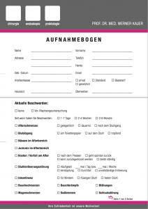 Anamnese Bogen München